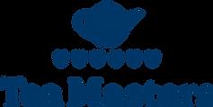 Logo for Tea Masters, smiling tea pot and six cups, representing the six tea categories
