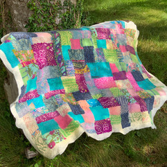 Nuno felted silk patchwork
