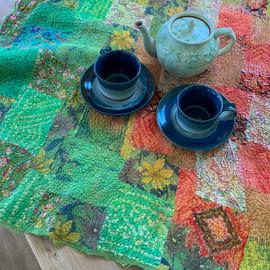 Nuno-felted silk patchwork