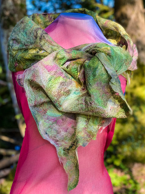 Green and Pink Cobweb wrap