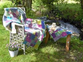 Nuno felted vintage silk patchwork