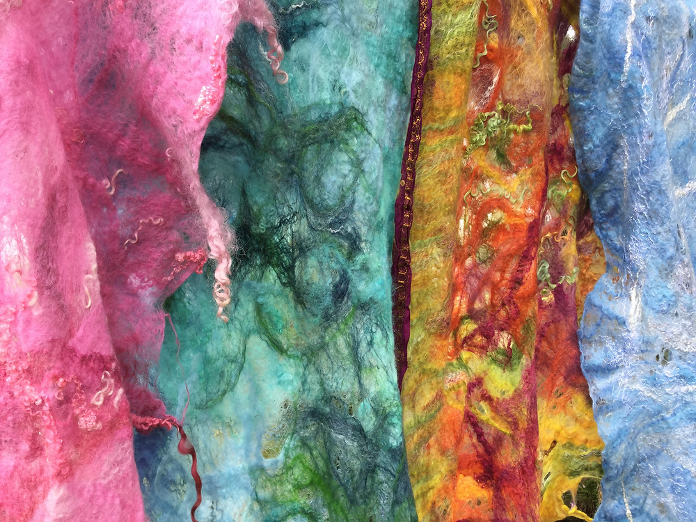 'Recipes' using silk and curls result in these faboulous wearbable art
