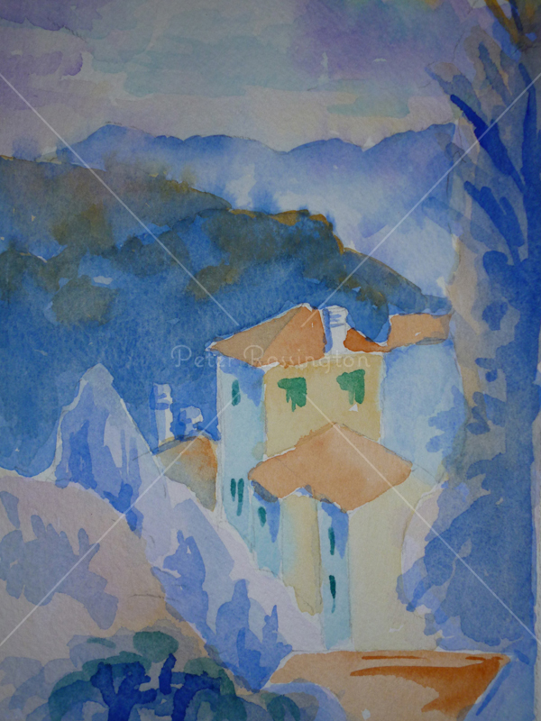 Tuscan Vista, Watercolour