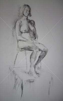Nude, Charcoal, 2016