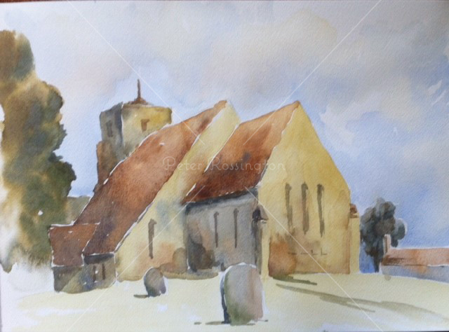 Church, Amberley, Sussex,Watercolour