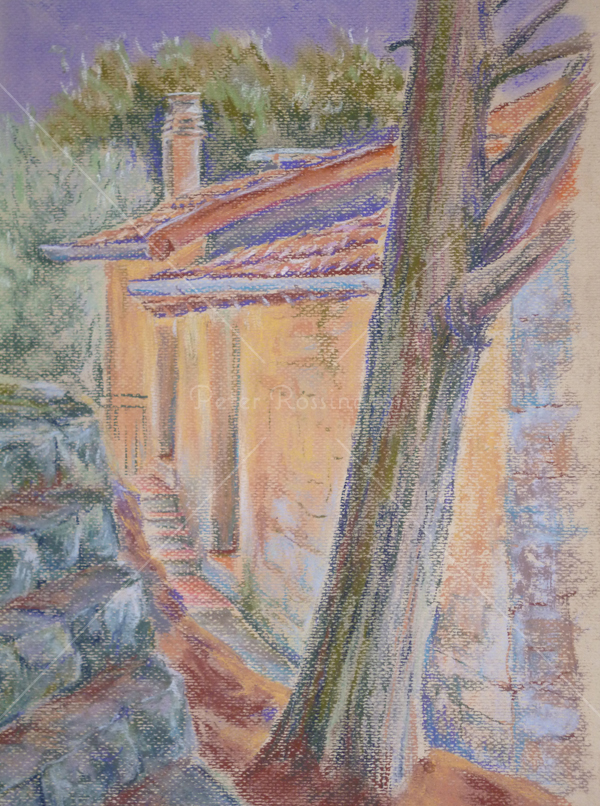 House, Southern Spain, Pastel