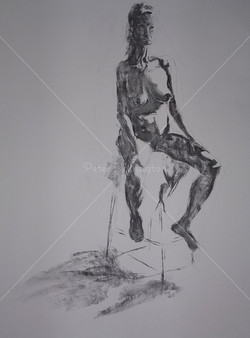 Nude, Charcoal, 2015
