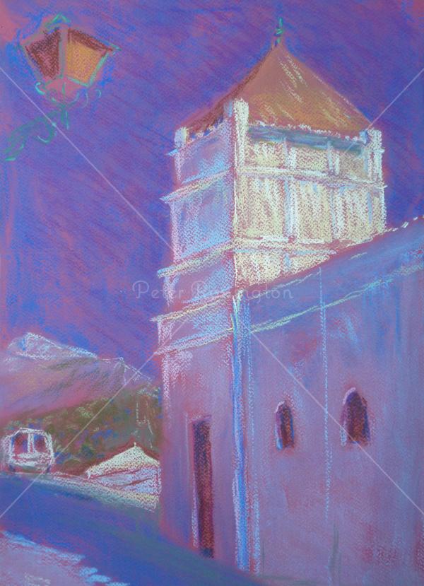Church, southern Spain, Pastel