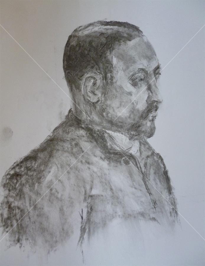 Portrait, Charcoal, 2015