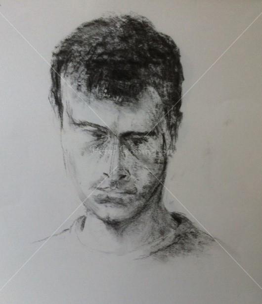 Portrait, Charcoal, 2016