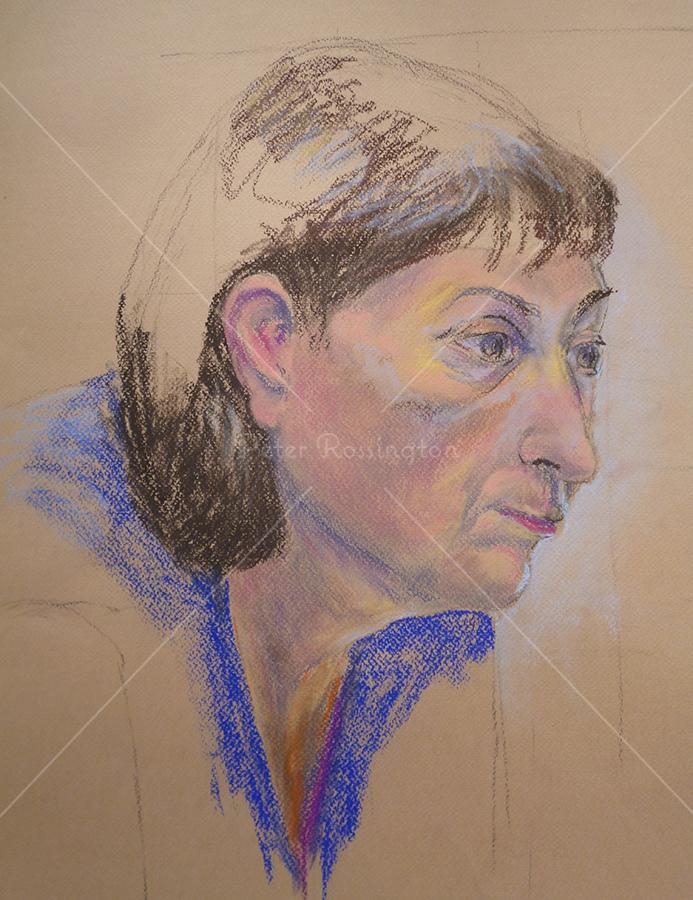 Portrait, Pastel, 2014