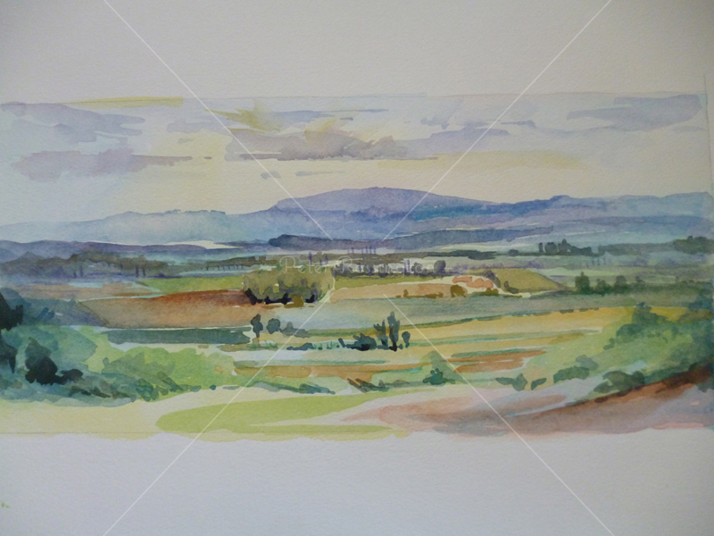 Landscape, France	Watercolour