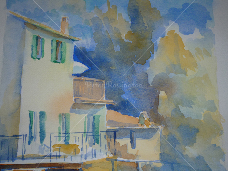 Villa, Italy, Watercolour