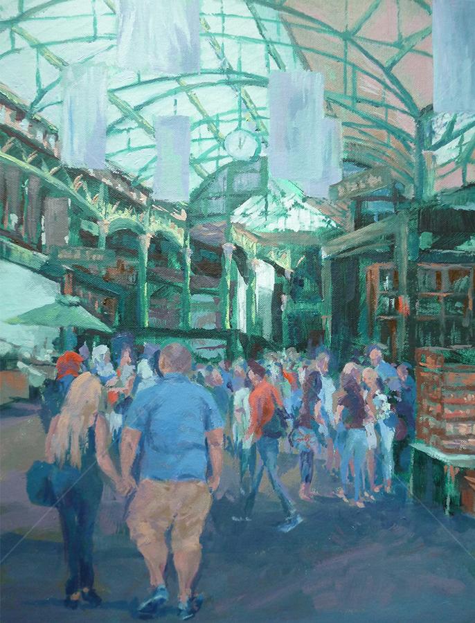 Borough Market, Oil on Canvas
