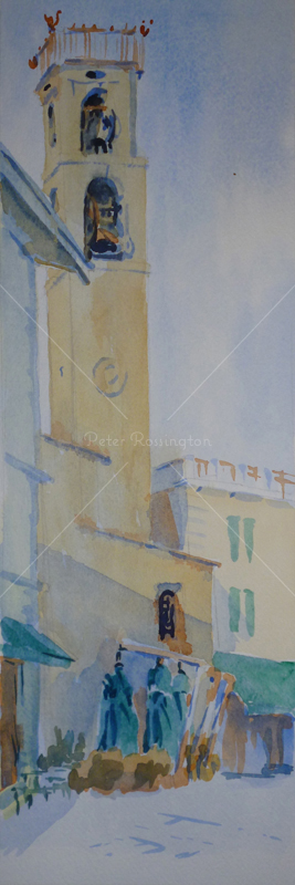 Church, Tuscany, Watercolour