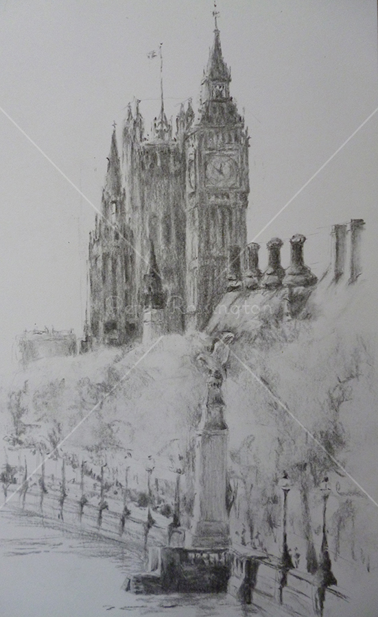 Westminster View, Charcoal, 2015