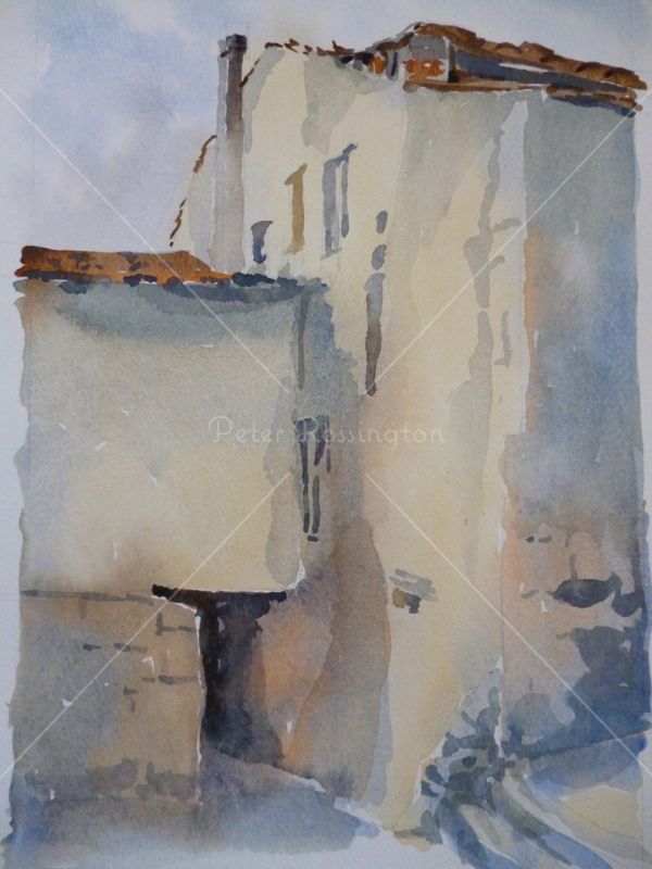 House, Spain, Watercolour