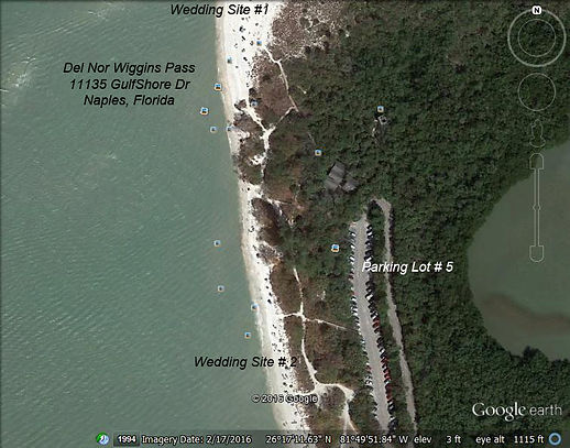 Alison Hager UP Beach wedding map