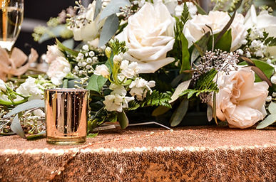 Reception Decor-Custom Flowers and sequi