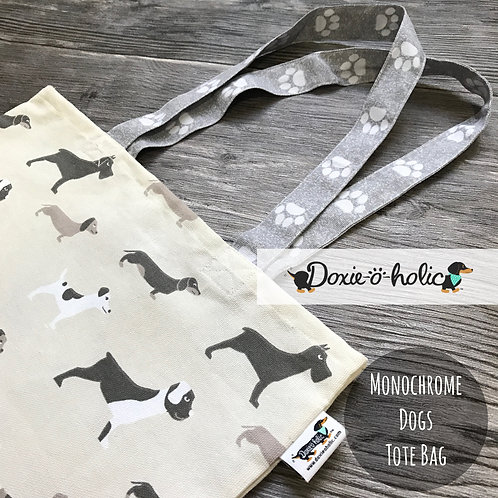 Monochrome Dogs Tote Bag