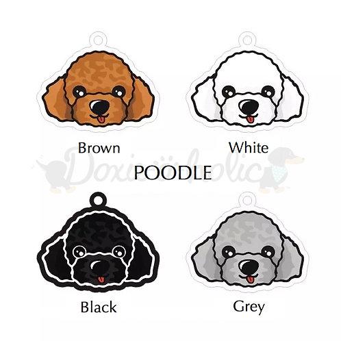 Poodle Dog Tag
