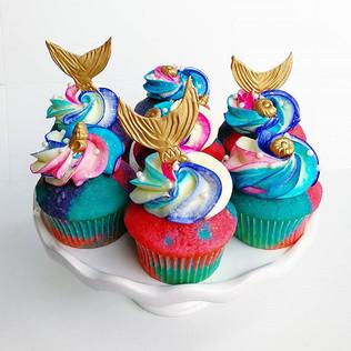 Mermaid Cupcakes!! #sweetkatebakery #mer