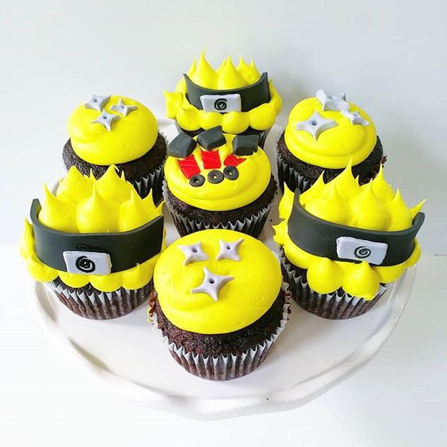 Naruto Cupcakes!! #sweetkatebakery #naru