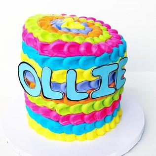 Topsy Turvy Cake for Little Ollie's Birt