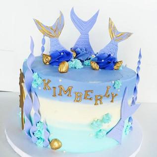 Mermaid Birthday Cake!! #sweetkatebakery