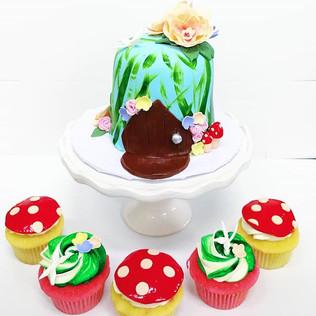 Woodland Fairy Themed Birthday!! Cupcake
