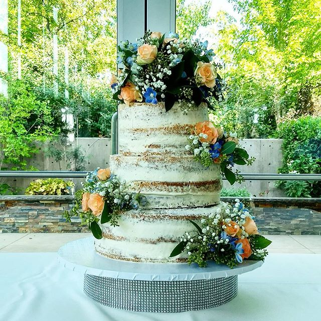 Naked Wedding Cake! #sweetkatebakery #nakedcake #weddingcake
