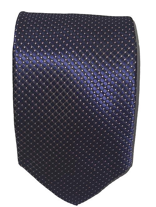 Cravatta Blu con Pallini Bianchi