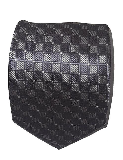 Cravatta Quadretti Grigio e Nero