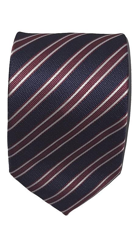 Cravatta Blu e Bordeaux