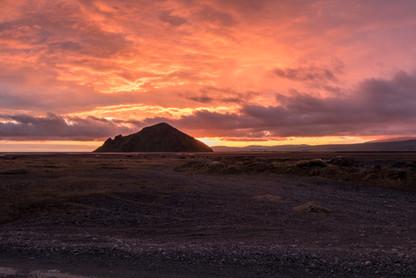 Island západ slunce