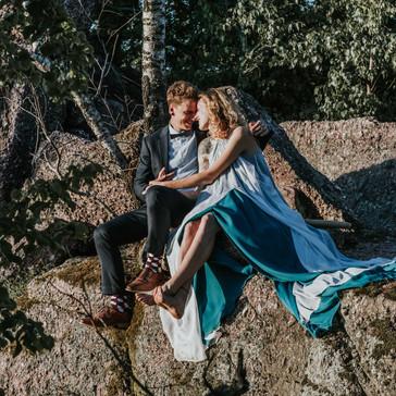 Svatební focení na skalách