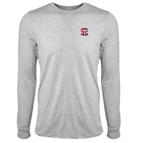 SoundStitch™ Men's Classic Long Sleeve Tee, Light Grey