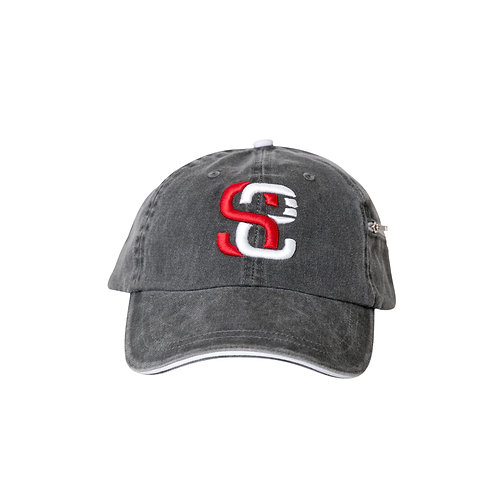 SoundStitch™ StrapBack Dad Cap w/ Stash Pocket, Charcoal Grey