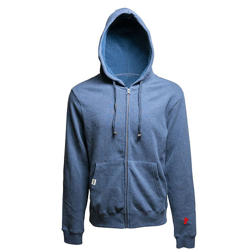 SoundStitch™ Unisex Zip-Up Hoodie w/ Sleeve Note, Navy