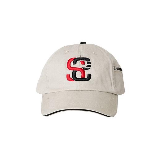 SoundStitch™ StrapBack Dad Cap w/ Stash Pocket, Khaki