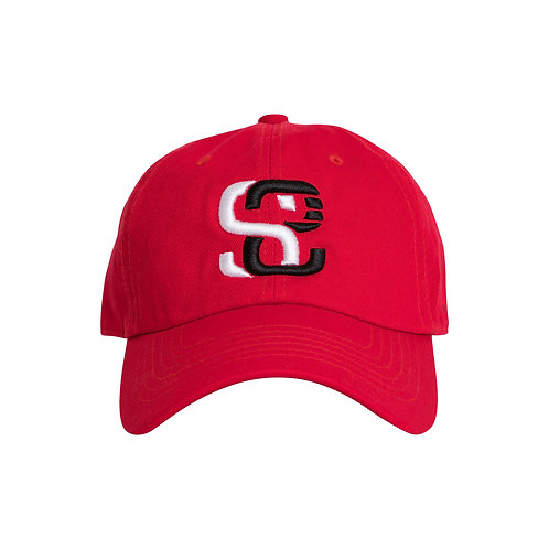 SoundStitch™ StrapBack Dad Cap, Red