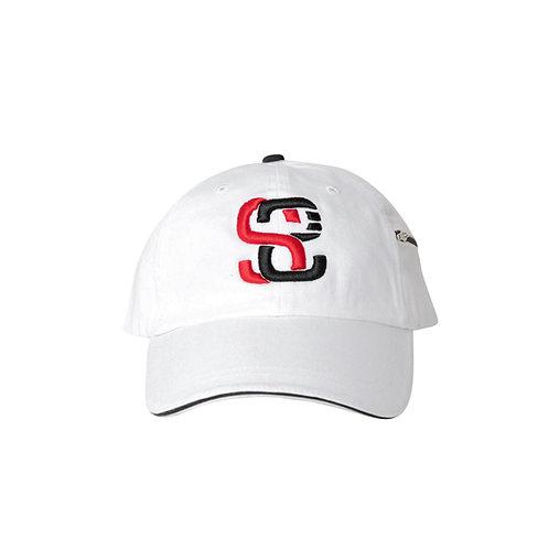 SoundStitch™ StrapBack Dad Cap w/ Stash Pocket, White