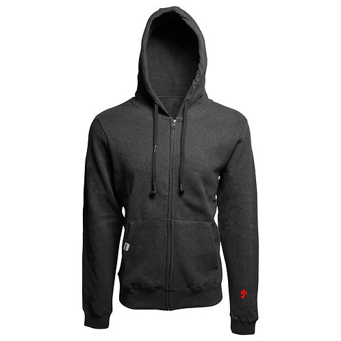 SoundStitch™ Unisex Zip-Up Hoodie w/ Sleeve Note, Charcoal