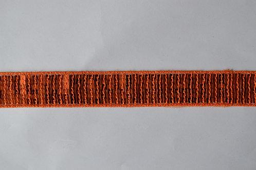 Ruban sequins carré 20 mm orange