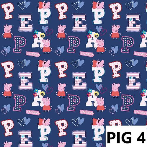Pepa Pig fond bleu