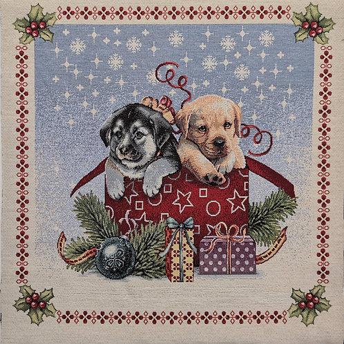 Carré - Chiots cadeaux de Noël