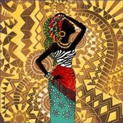 Carré - Africaine zèbre