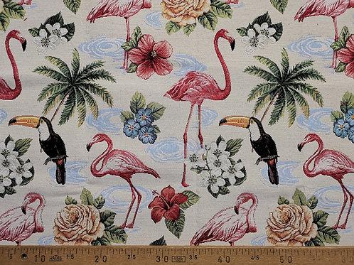 Ameublement 50 - Flamand rose et toucan gros motifs