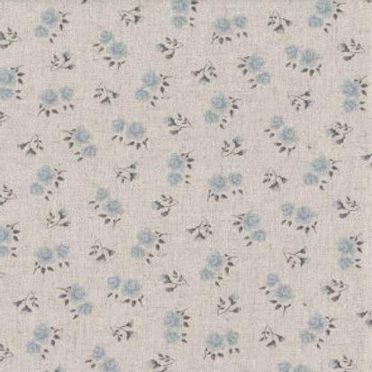 Shabby chic roses gris-bleu