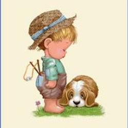 Le petit garçon et son chien